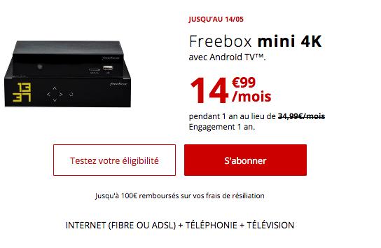 Promo box internet fibre optique pas chère Free.