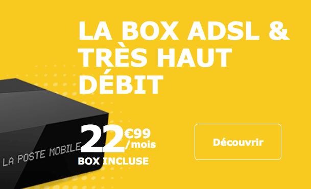 Box internet très haut débit en promotion chez La Poste Mobile.