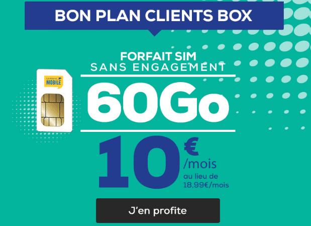 Bon plan forfait 4G pas cher pour clients box internet La Poste Mobile.