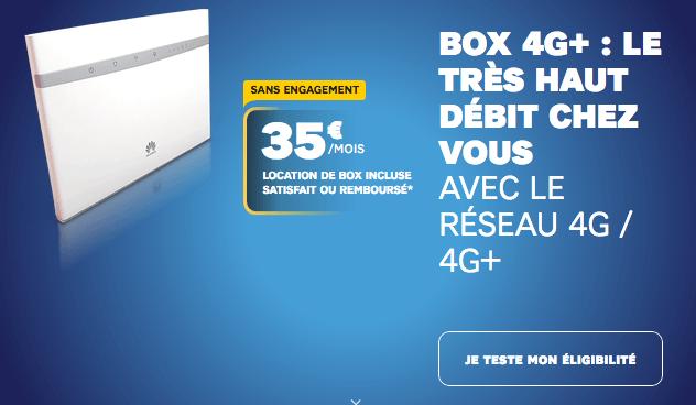 box internet via le réseau mobile en promo chez SFR.