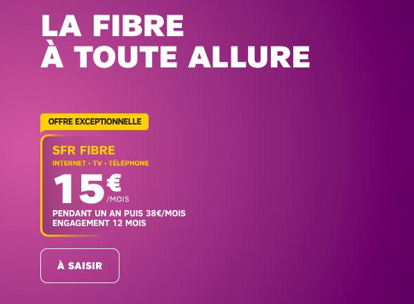 la promotion à 15€ de SFR