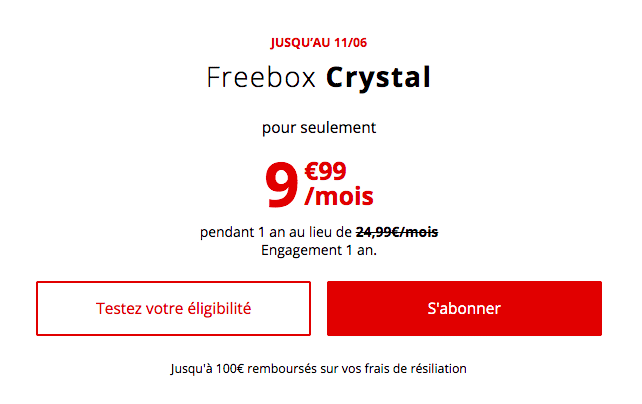 la Freebox Crystal