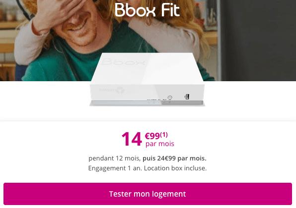 BBox Fit promotion ADSL pas chère Bouygues Telecom.