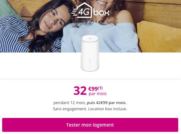 Promo Box internet 4G Bouygues Telecom.