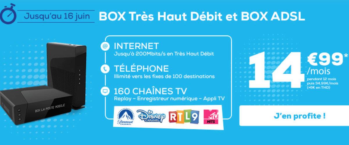 14 99 mois pour une box internet gr ce une promotion la poste mobile