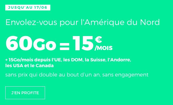 le forfait à 15€ de RED by SFR
