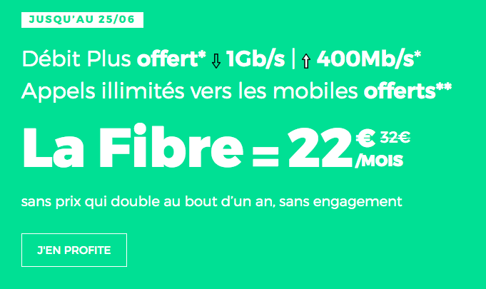 Fibre optique en promo chez RED by SFR.