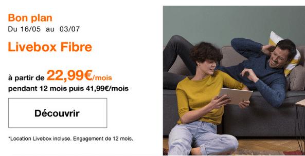 Box internet fibre optique ou ADSL en promotion chez Orange.