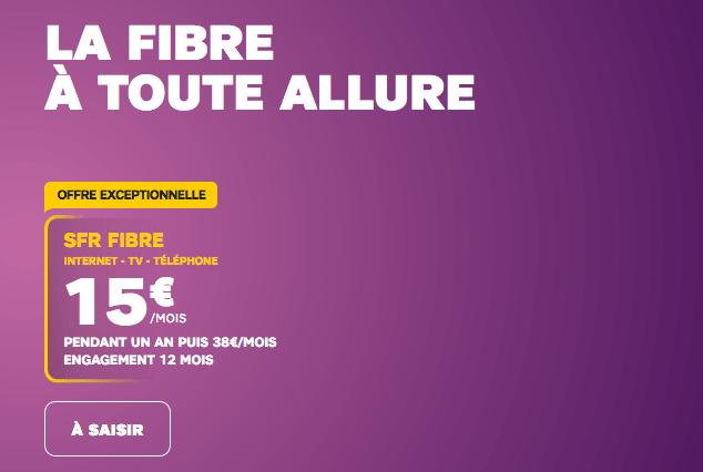 Promo box internet fibre optique chez SFR.