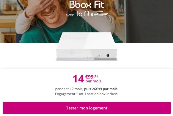 Promo box fibre optique pas chère chez Bouygues Telecom.