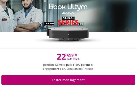 Bbox Ultym box internet haut de gamme en promotion chez Bouygues Telecom.