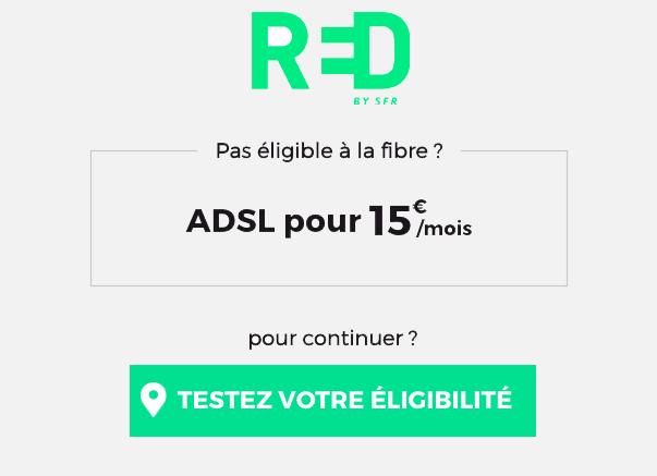 la box adsl de RED by SFR