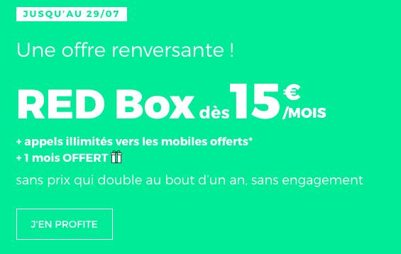 la box de RED à partir de 15€