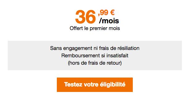 Box 4G Orange promotion.