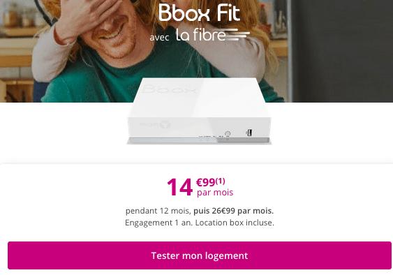 Bbox Fit en promotion chez Bouygues Telecom.