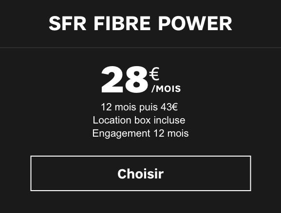 box sfr fibre power