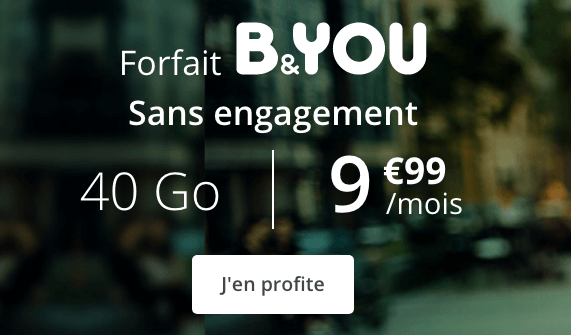 Promo forfait mobile sans engagement et riche en 4G.