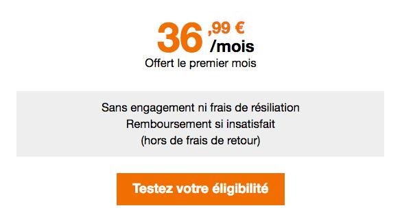 Promo Orange box internet via réseau mobile.