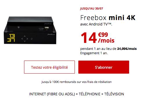 Box ADSL ou fibre optique en promotion chez Free.