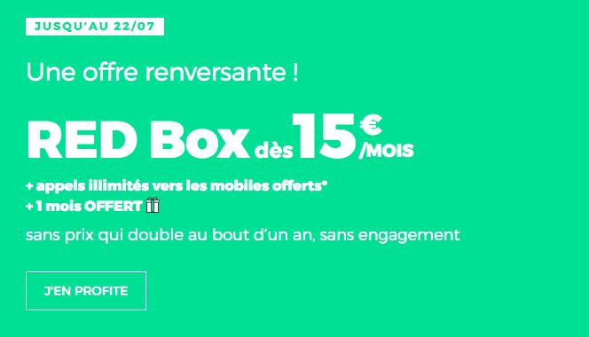 Box ADSL ou fibre optique en promo chez RED by SFR.