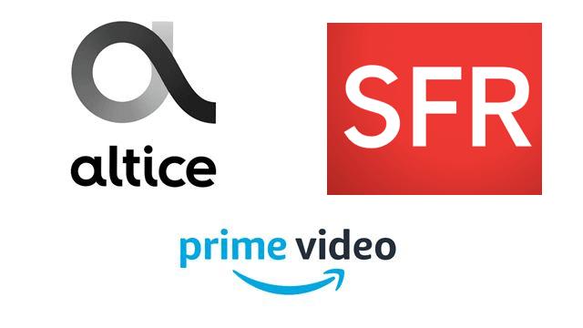 Logos Amazon SFR Altice.