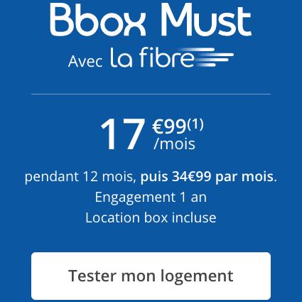 La Bbox Must à prix réduit.