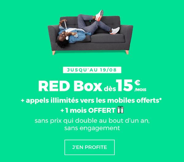 RED by SFR prolonge son offre promotionnelle sur sa box internet sans engagement