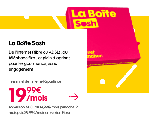 red by sfr vs sosh quelle box internet sans engagement choisir