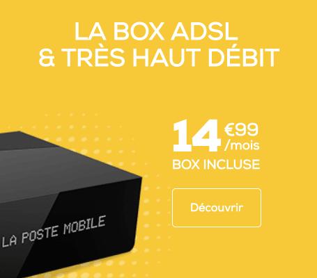 La box La Poste Mobile en promo.