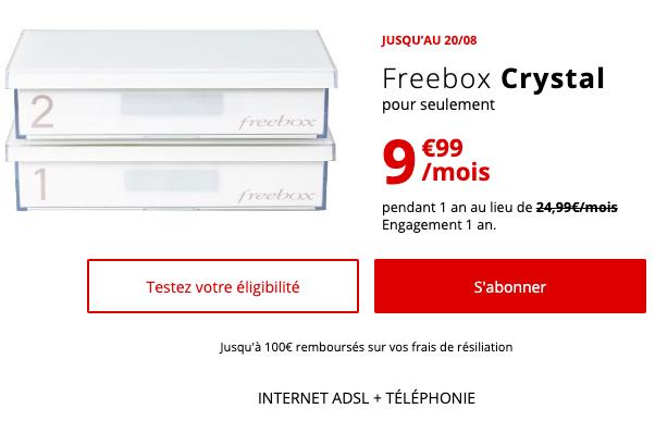 Petit prix sur la box internet ADSL de Free