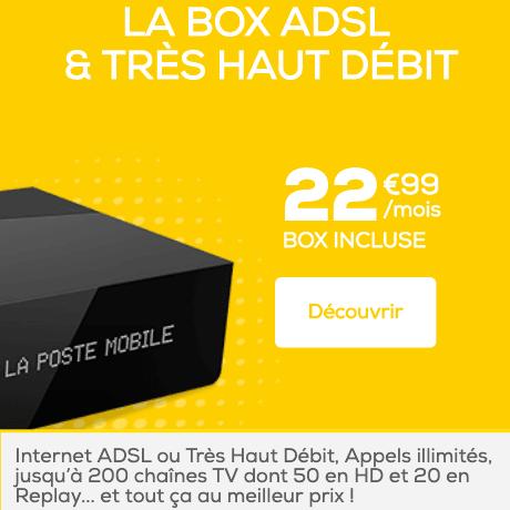 La box La Poste avec bouquet TV.