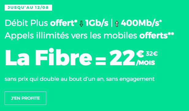 La box internet fibre optique de RED by SFR est en promotion.