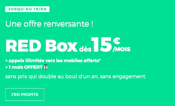 Box internet ADSL ou fibre optique pas chère RED by SFR.