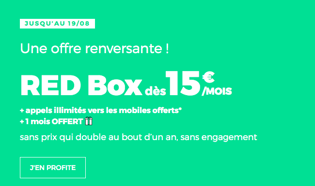 RED by SFR RED Box en promo avec la fibre.
