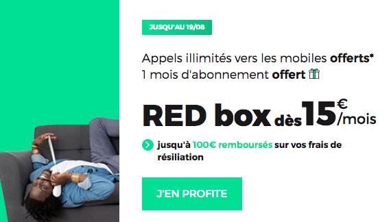 RED Box fibre optique promotion.