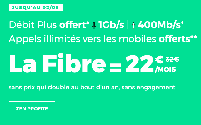 22€pour la fibre optique optimisée : un bon plan box internet de RED by SFR