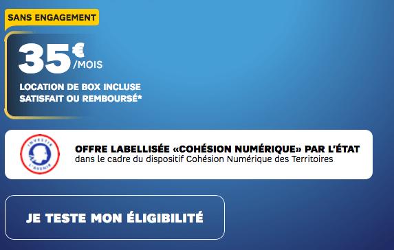 SFR promotion sur la box internet 4G.