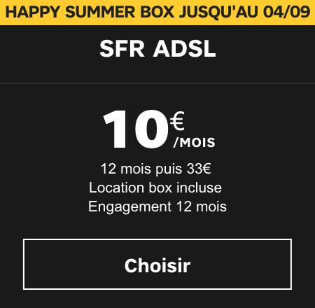 La box internet en promo.