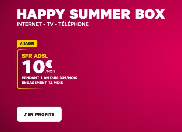Promo SFR : un bon plan pour une box internet ADSL pas chère.