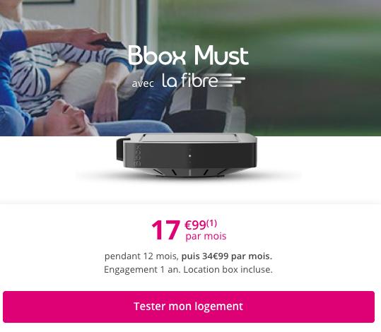 Bbox must à 17,99€ par mois