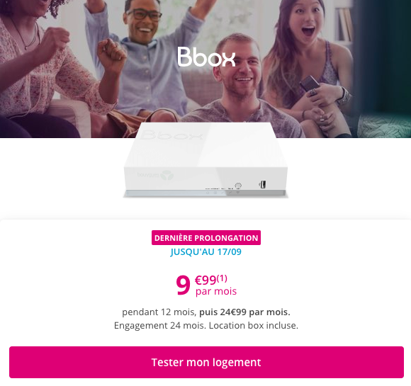 choisir la Bbox ADSL de Bouygues