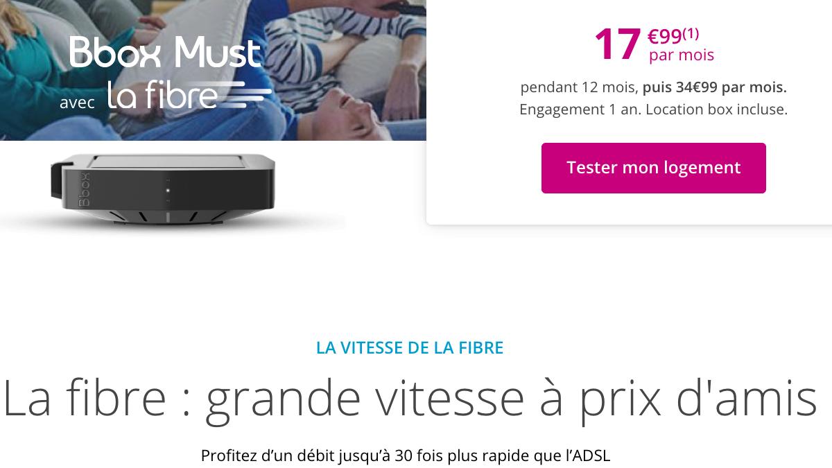 Bbox Must à prix assé chez Bouygues Telecom.