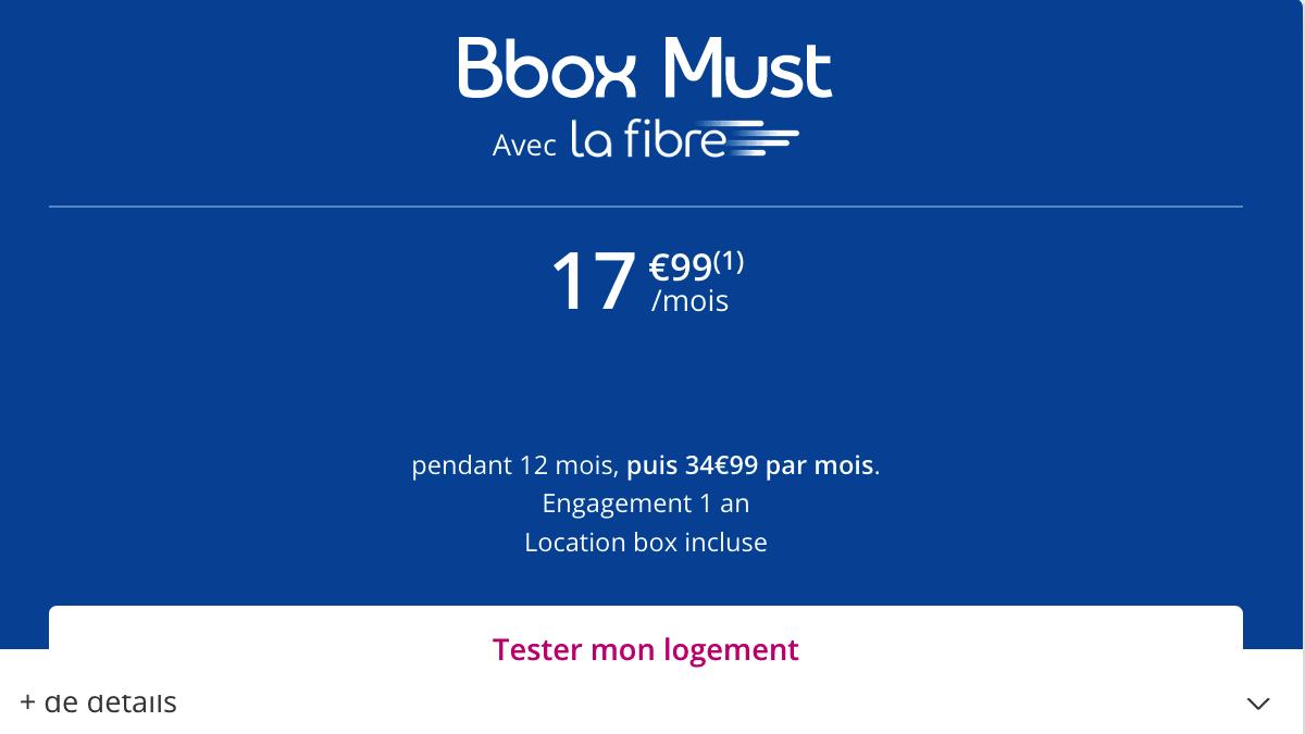 la Bbox Must est aussi en promotion.