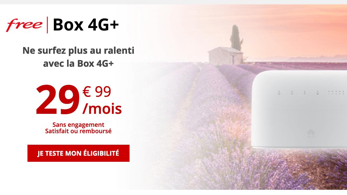 Promo box 4G+ de Free.