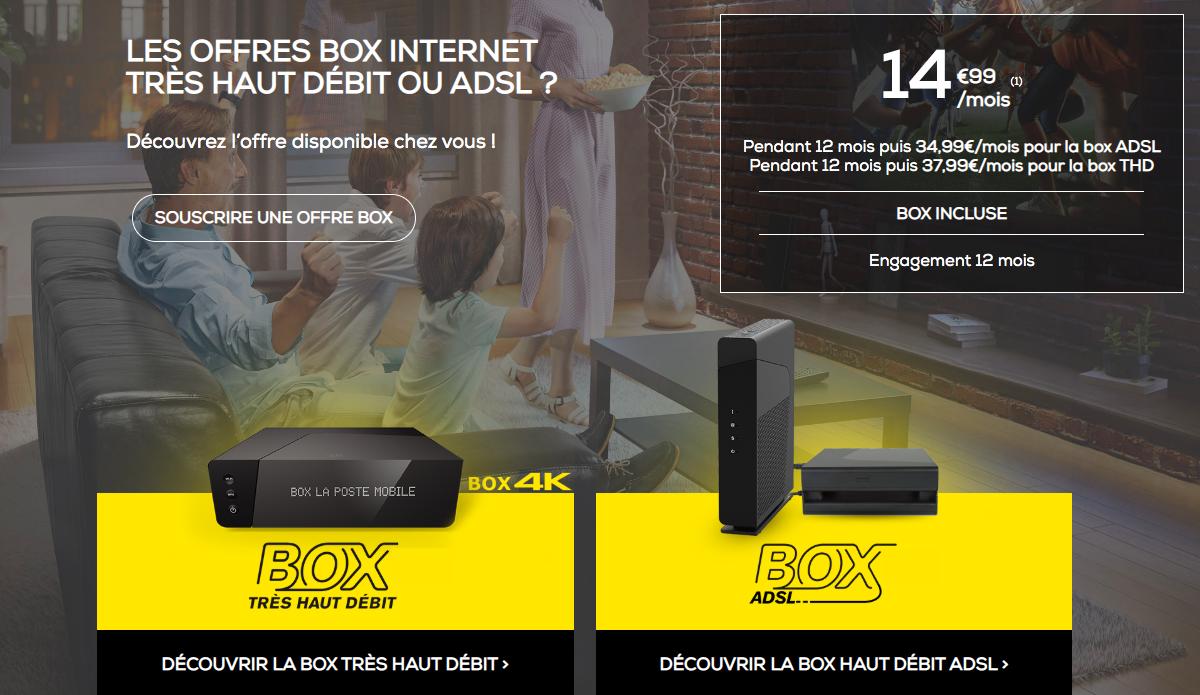 la box de La Poste Mobile