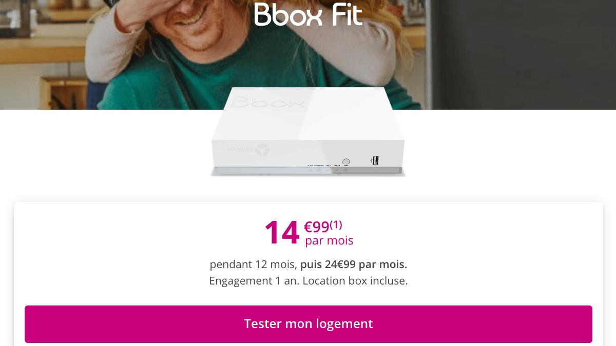 Promo Bbox Fit Bouygues Telecom.