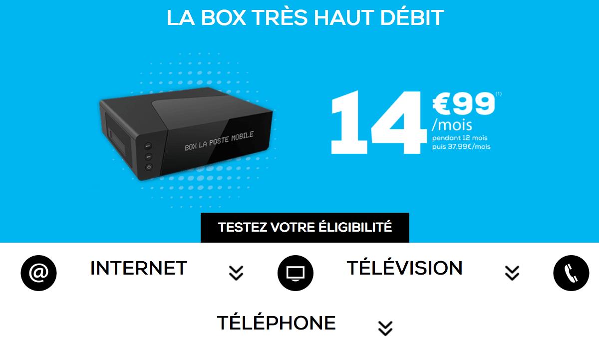 Box internet très haut débit en promo chez La Poste Mobile.