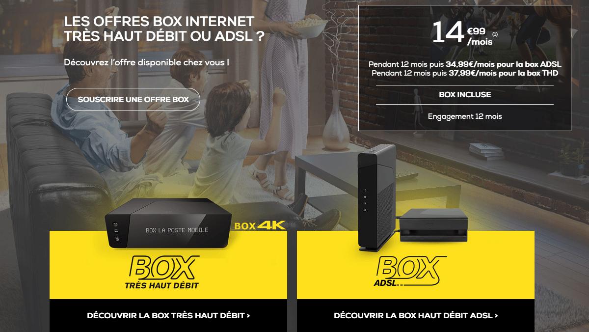 Promo La Poste Mobile box internet.