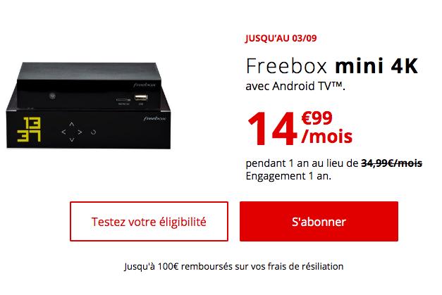 la box internet à 14,99€ de Free