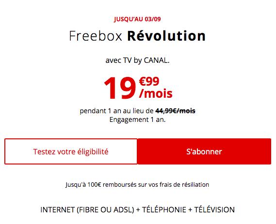 la freebox révolution à 19,99€